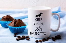 Tazzemug personalizzate keep calm and love bassotto