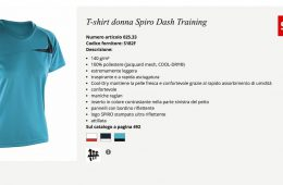 t-shirt donna in materiale tecnico